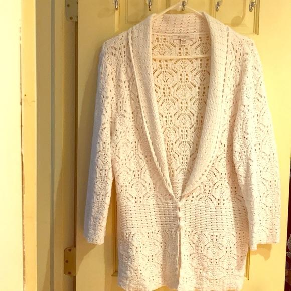 Jm Collection Jackets Coats Crochet Cardigan Jacket Poshmark